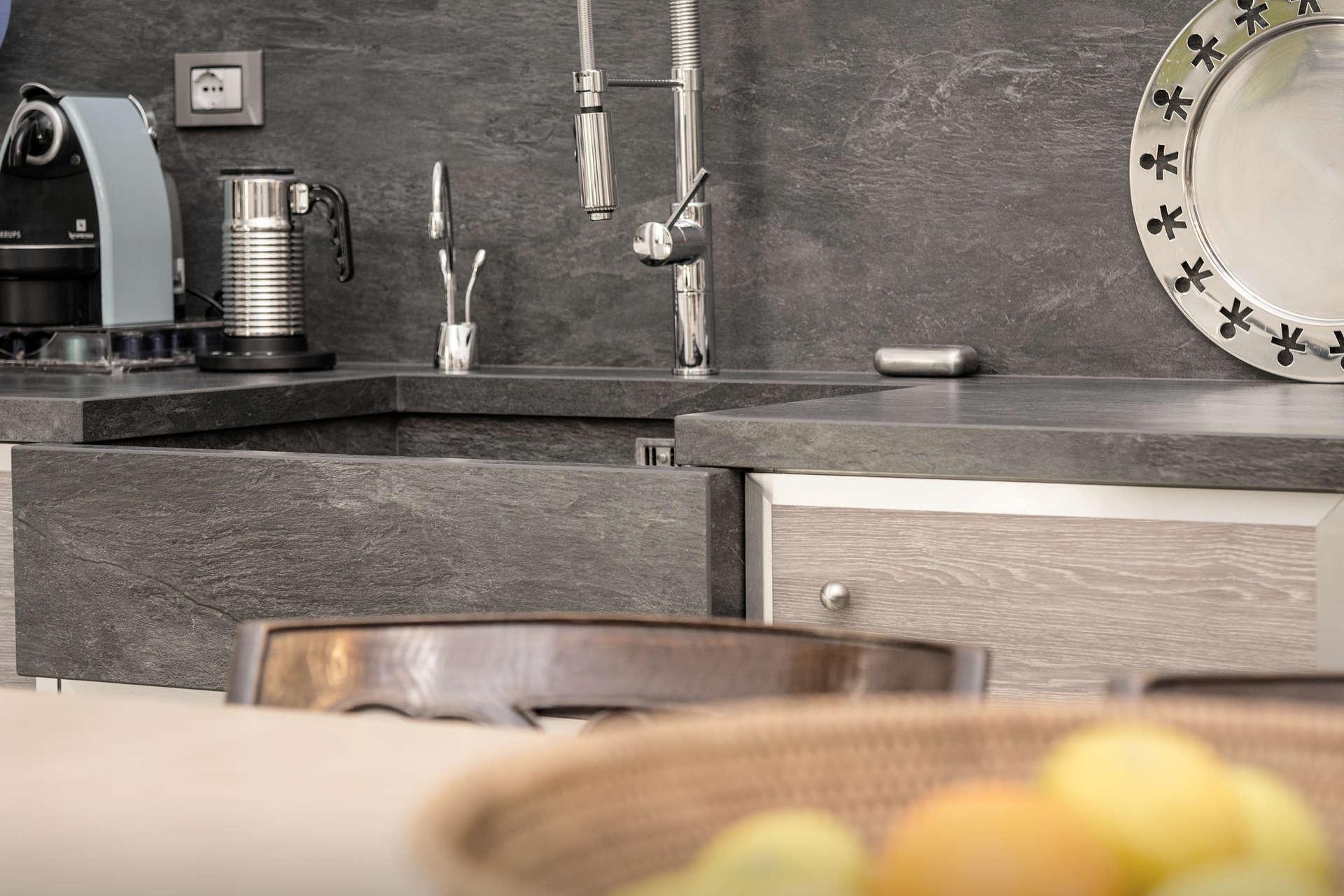Top cucina in Ardoise Noir